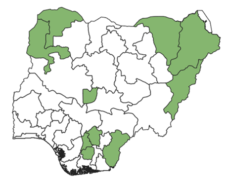 States Covered under Agric/Livelihoods
